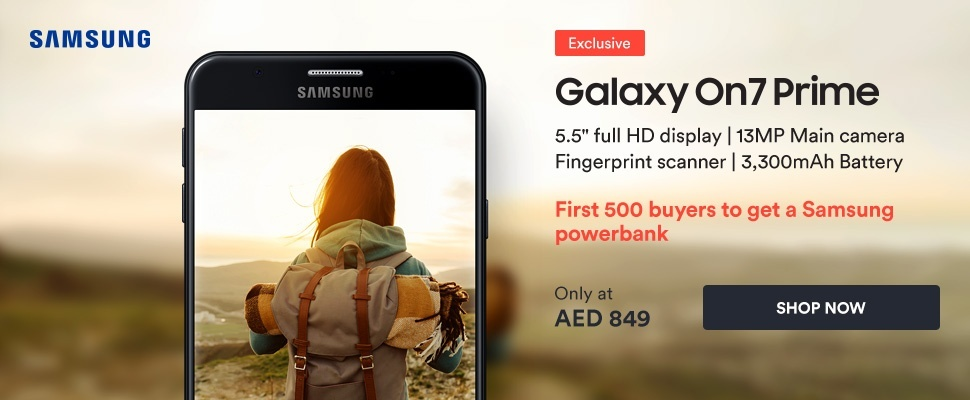 Samsung Galaxy On7 Prime is here. Only on Souq!