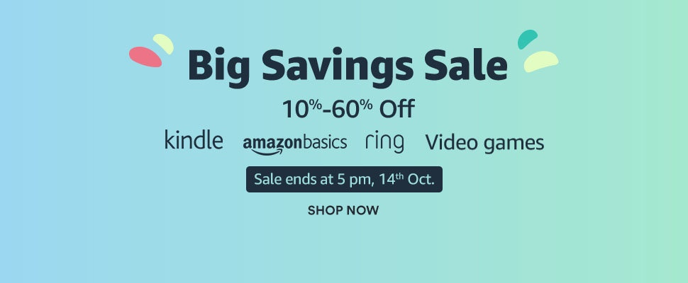 Big savings sale