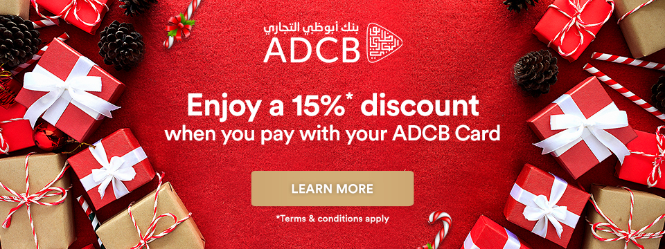 Enjoy a 15%* discount when you pay with your ADCB Card