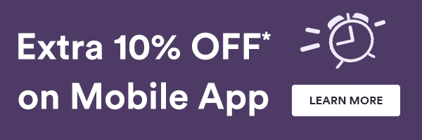 Extra 10% OFF on Mobile App