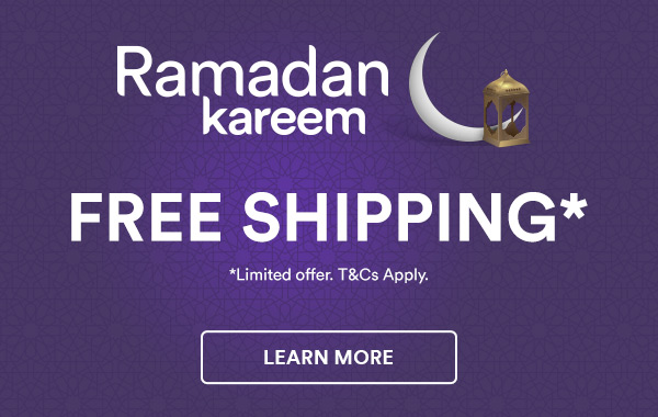 Ramadan Kareem | Free Shipping on Everything* on all local orders with minimum order value of AED 100