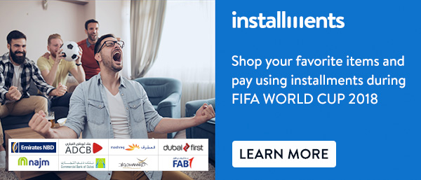 shop your favorite items and pay using installments during FIFA WORLD CUP 2018