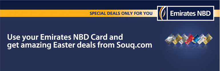 use your emirates nbd card and get amazing easter deals from souqcom