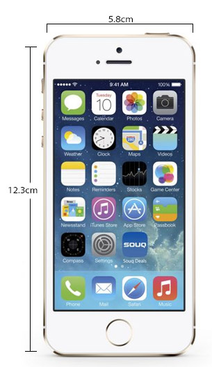 Apple iPhone 5S Physical Features