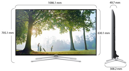 Samsung 48 Inch Series 6 Full Hd Smart 3d Led Tv 48h6400