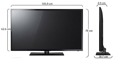 samsung 46 39 39 full hd smart led tv 46f5500 price review and buy in dubai abu dhabi and rest of. Black Bedroom Furniture Sets. Home Design Ideas
