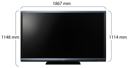 buy sharp aquos 80 inch full hd 3d led smart tv lc 80le940x ksa souq. Black Bedroom Furniture Sets. Home Design Ideas