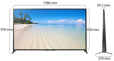 Sony 70 Inch Smart LED HD TV KDL70W850B price review and buy in