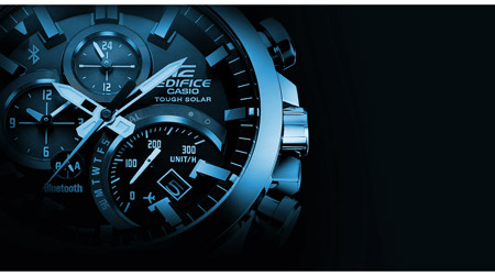 Casio Edifice For Men Black Dial Stainless Steel Band Chronograph