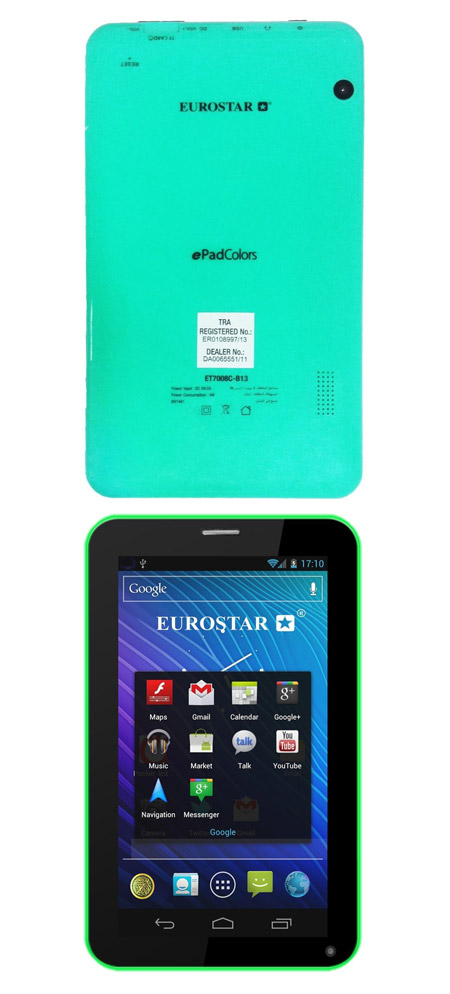 Eurostar ePad Colors ET7008C-B13 Tablet Green (7inch, Android 4 2, 8GB,  Wifi)