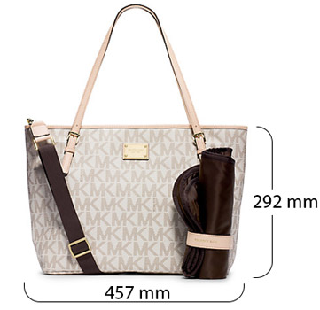 Michael Kors 30F4GTTT4B Diaper Bag for Women - Vanilla 39343651d7