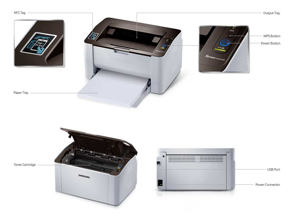 Souq Samsung Sl M2020w Wireless Mono Laser Nfc Printer Uae